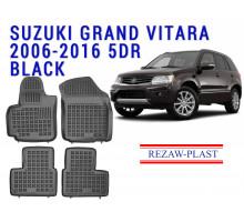 Rezaw-Plast  Rubber Floor Mats Set for Suzuki Grand Vitara 2006-2016 5DR Black