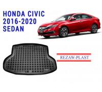 Rezaw-Plast Rubber Trunk Mat for Honda Civic 2016-2020 Sedan Black
